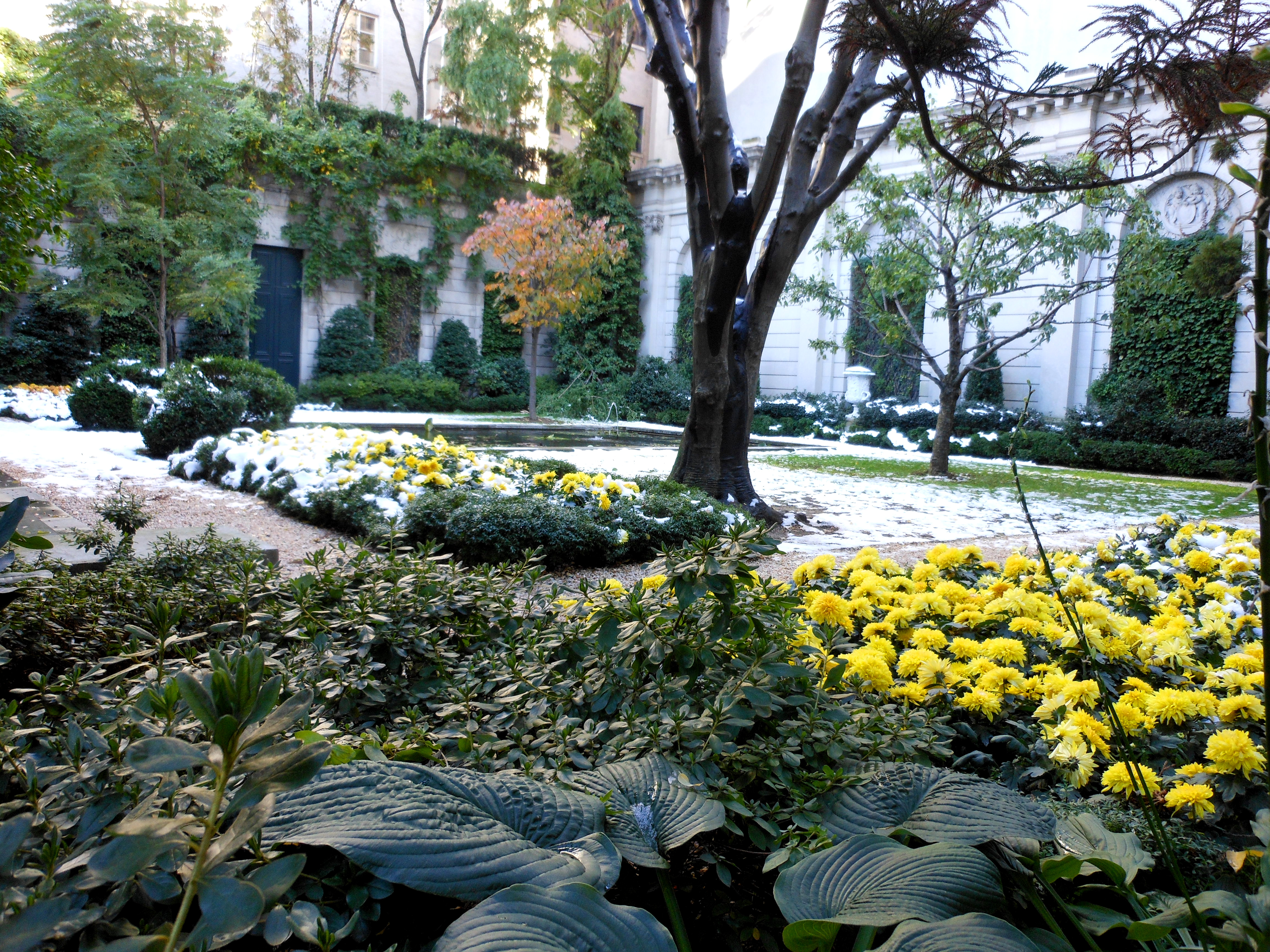 """The Russell Page Garden at the Frick to be """"Destroyed""""."""